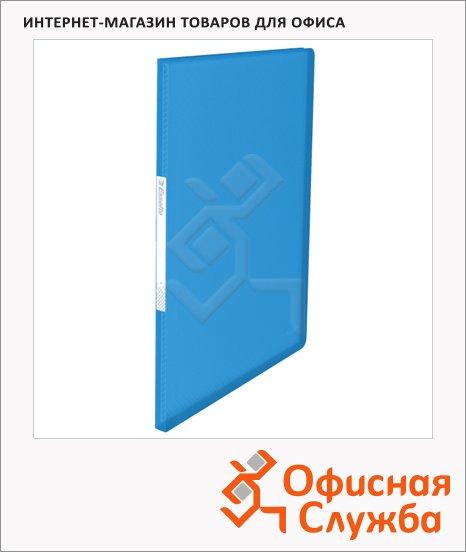 Папка файловая Esselte Vivida синяя, А4, на 40 файлов, 623997