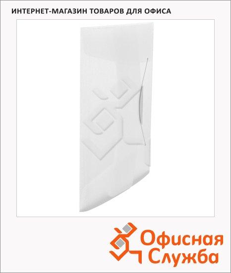 Пластиковая папка на резинке Esselte Vivida белая, A4, до 150 листов, 624044