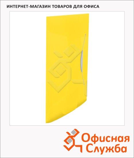 фото: Пластиковая папка на резинке Esselte Vivida желтая A4, до 150 листов, 624045