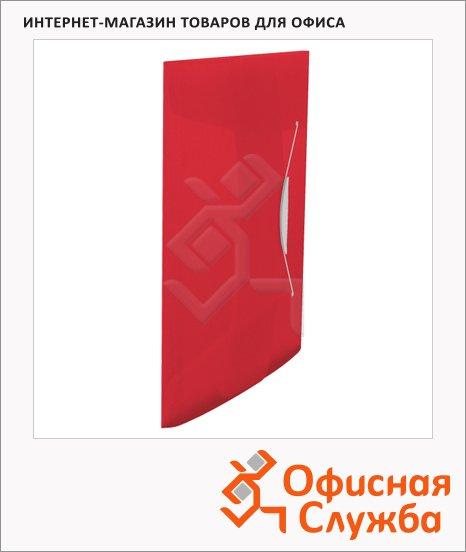Пластиковая папка на резинке Esselte Vivida красная, A4, до 150 листов, 624042
