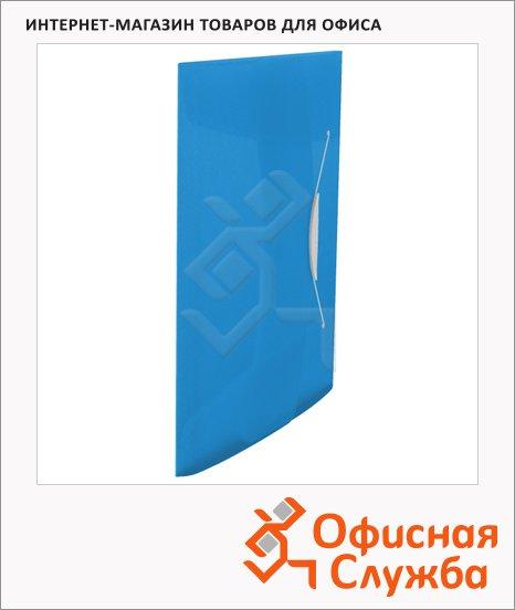 фото: Пластиковая папка на резинке Esselte Vivida синяя A4, до 150 листов, 624040