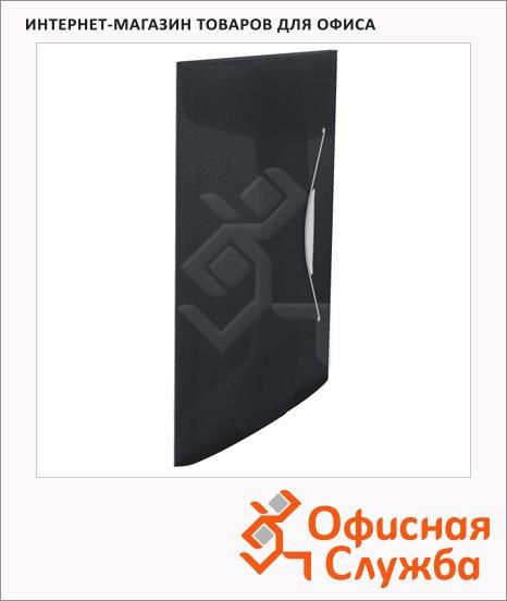 Пластиковая папка на резинке Esselte Vivida черная, A4, до 150 листов, 624043