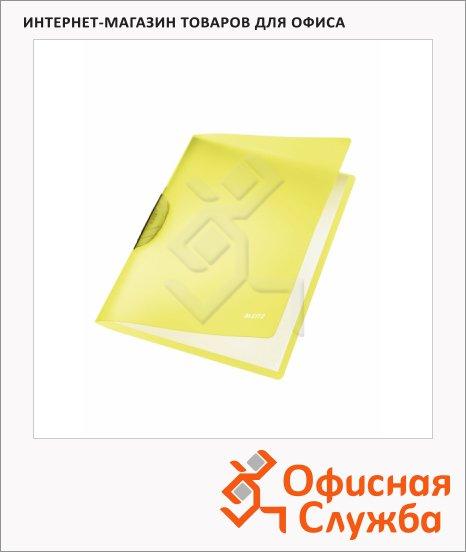 Пластиковая папка с клипом Leitz ColorClip Rainbow желтая, А4, до 30 листов, 41760015