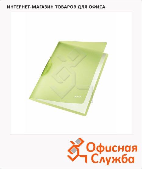 Пластиковая папка с клипом Leitz ColorClip Rainbow зеленая, А4, до 30 листов, 41760055