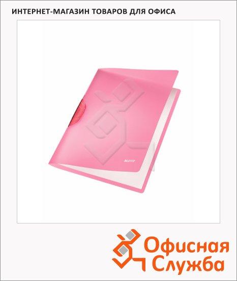 Пластиковая папка с клипом Leitz ColorClip Rainbow красная, А4, до 30 листов, 41760025