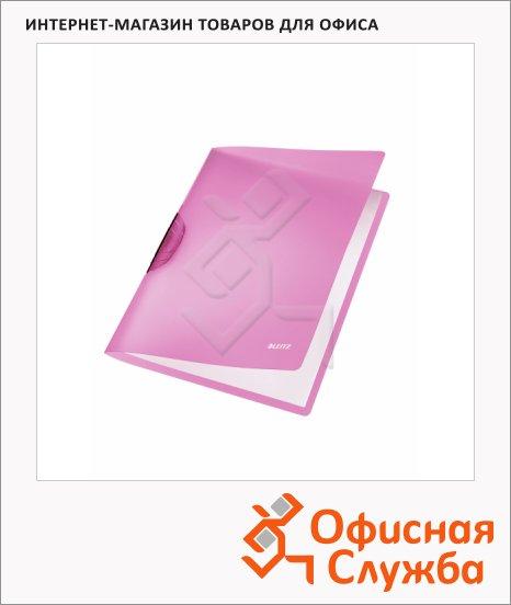 Пластиковая папка с клипом Leitz ColorClip Rainbow фиолетовая, А4, до 30 листов, 41760065