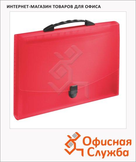 Портфель пластиковый Esselte Vivida красный, до 350 листов, 12 отделений, 624023