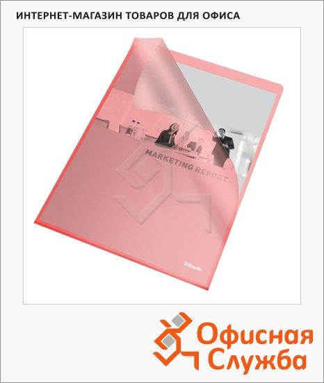 фото: Папка-уголок Esselte красная A4, 110мкм, 25 шт/уп, 60833