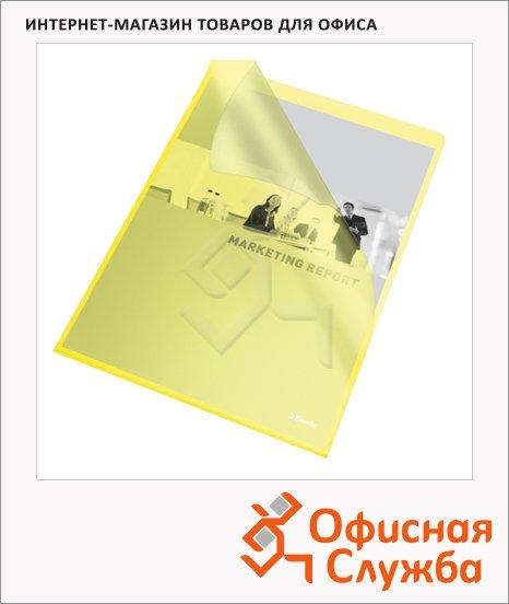 фото: Папка-уголок Esselte желтая A4, 110мкм, 25 шт/уп, 60836