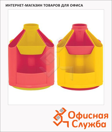 Органайзер настольный Стамм Mini Desk 10 секций, 140х107мм, розово-желтый, ОР91