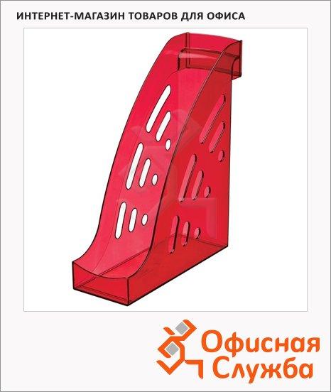 Накопитель вертикальный для бумаг Стамм Торнадо А4, 95мм, вишня