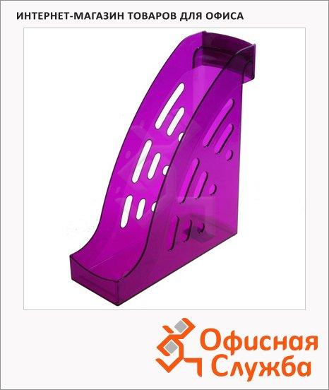 Накопитель вертикальный для бумаг Стамм Торнадо А4, 95мм, слива, ЛТ408