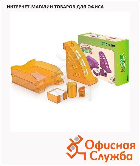 Набор настольный Стамм Сочный офис №2 6 предметов, манго, НН24