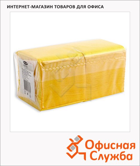 Салфетки Aster Profi Pack желтые, 24х24см, 1 слой, 400шт