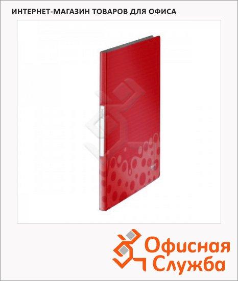Папка файловая Leitz Bebop красная, А4, на 20 файлов, 45640025