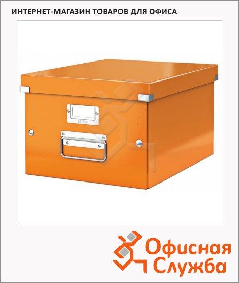 Архивный короб Leitz Click & Store-Wow оранжевый, A4, 281x200x370 мм, 60440044