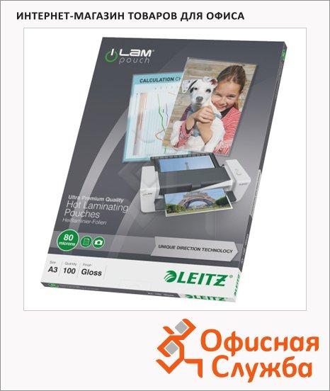 Пленка для ламинирования Leitz 80мкм, 100шт, 303х426мм, глянцевая
