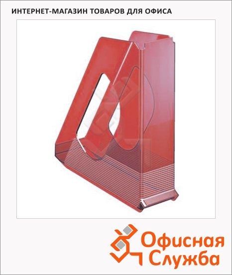 Накопитель вертикальный для бумаг Esselte Europost А4, 72мм, прозрачный красный, 623566