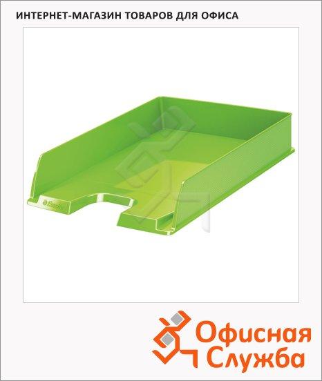фото: Лоток горизонтальный для бумаг Esselte Vivida Europost А4 зеленый, 623927