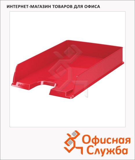фото: Лоток горизонтальный для бумаг Esselte Vivida Europost А4 красный, 623607