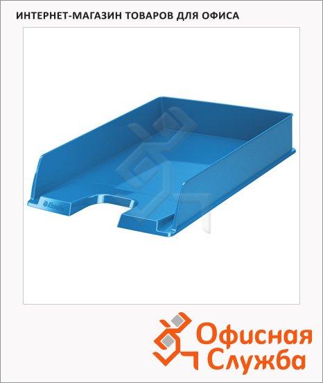 фото: Лоток горизонтальный для бумаг Esselte Vivida Europost А4 синий, 623926