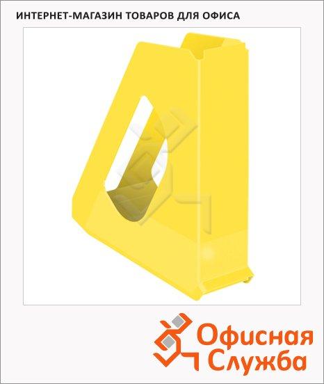 фото: Накопитель вертикальный для бумаг Esselte Europost Vivida А4 72мм, желтый, 623936