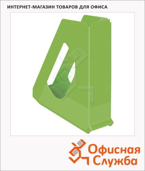 фото: Накопитель вертикальный для бумаг Esselte Europost Vivida А4 72мм, зеленый, 623938