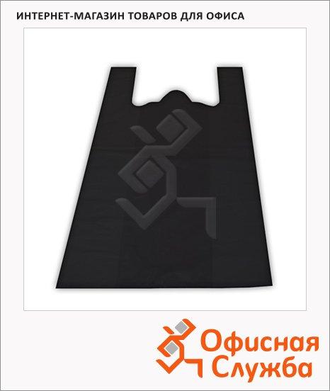 Пакет Майка ПНД 38х20х68см, 15мкм, 100 шт/уп, черный