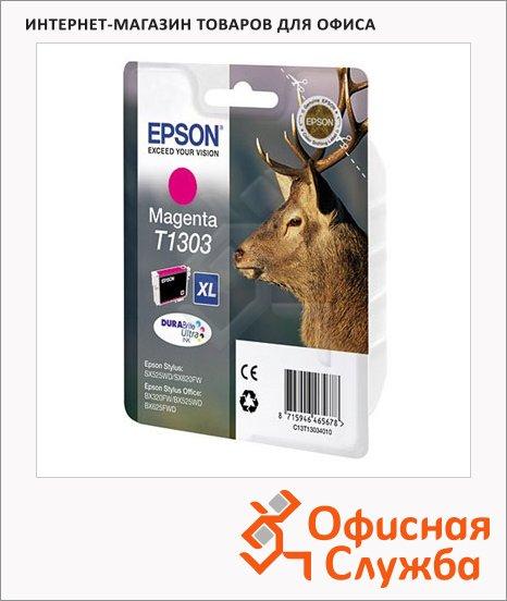 фото: Картридж струйный Epson C13 T1303 4010 пурпурный повышенной емкости