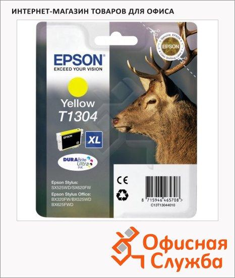 Картридж струйный Epson C13 T1304 4010, желтый повышенной емкости