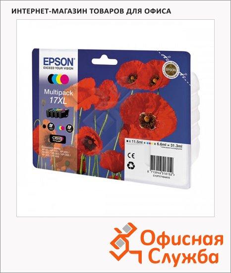 Картридж струйный Epson C13 T17164 A10, 4 цвета