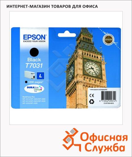 Картридж струйный Epson C13 T7031 4010, черный