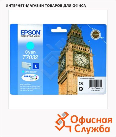 Картриджи струйные Epson C13 T7032 4010, голубой