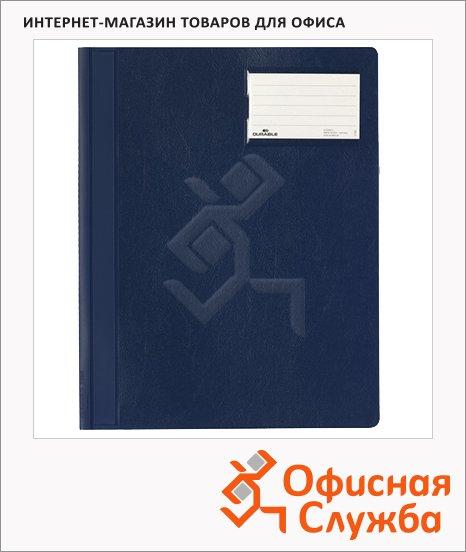 Скоросшиватель пластиковый Durable синий, А4+, 2500-07