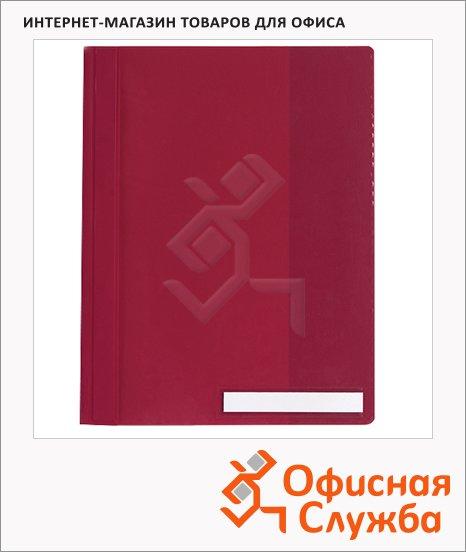 Скоросшиватель пластиковый Durable Clear View красный, А4, 2510-03