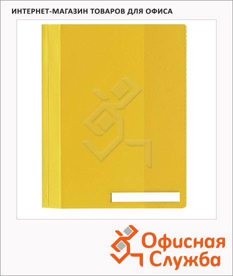 Скоросшиватель пластиковый Durable Clear View 251004, А4, желтый