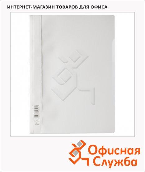 фото: Скоросшиватель пластиковый Durable белый А4, 2573-02
