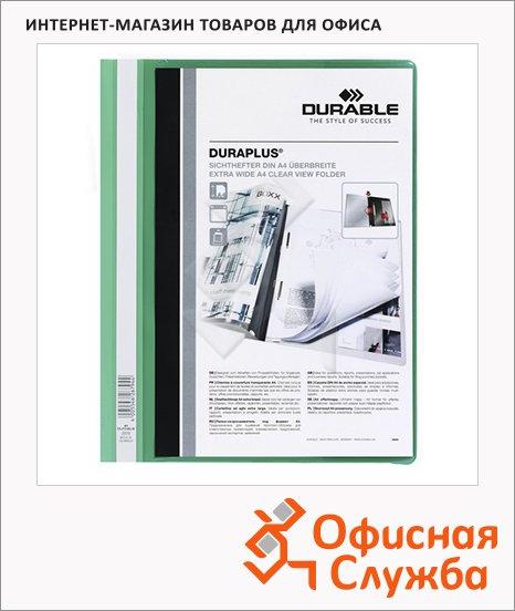 Скоросшиватель пластиковый Durable Duraplus зеленый, А4, 2579-05