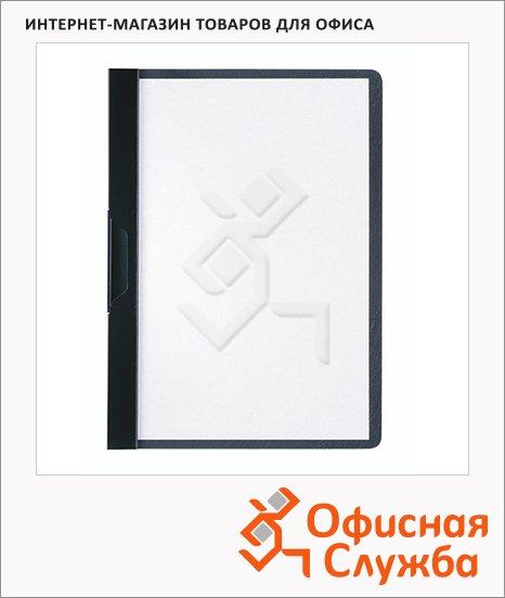 Пластиковая папка с клипом Durable Duraclip plus черная, А5, до 30 листов, 2217-01