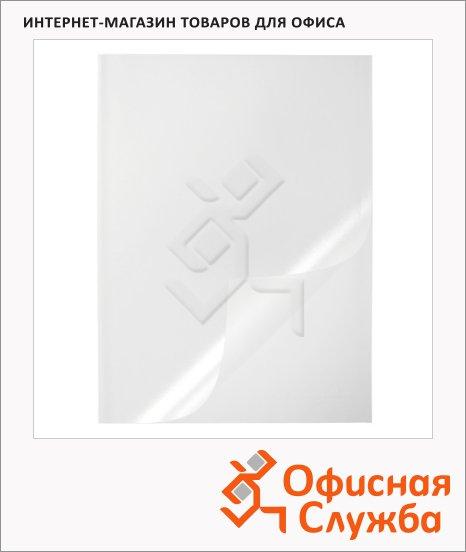 фото: Пластиковая папка с клипом прозрачная 2919-19