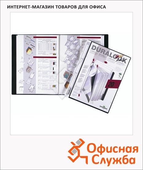 фото: Папка файловая Durable Duralook Plus черная A4, на 20 файлов, 2432-01