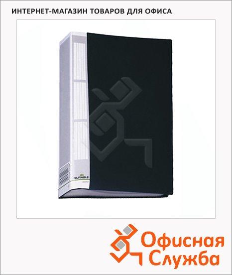 Папка файловая Durable Duralook черная, А4, на 50 файлов, 2425-01