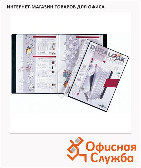 Папка файловая Durable Duralook Plus черная, А4, на 40 файлов, 2434-01