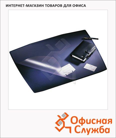 Коврик настольный для письма Durable Artwork 53х68см, с карманом, синий, 7201-07