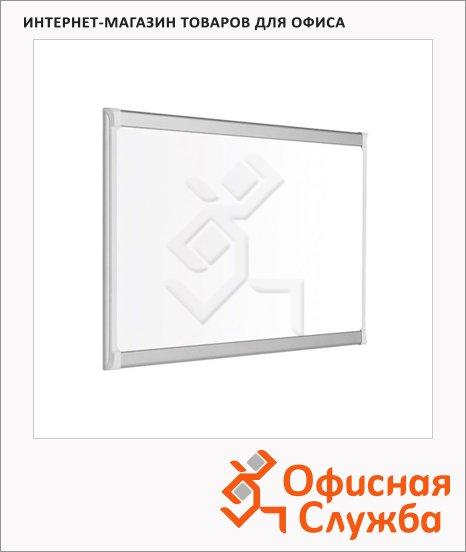 Доска магнитная маркерная Bi-Office PVI 030205 60х90см, лаковая, белая, алюминиевая рама