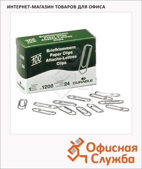 Скрепки канцелярские Durable 32мм, стрелка, медные, 100шт/уп, 1208-24