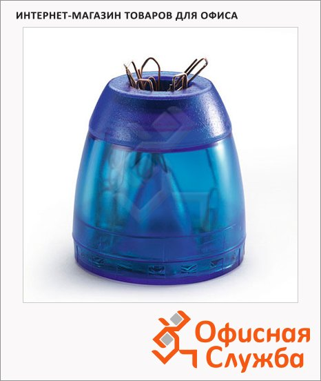 фото: Скрепочница магнитная Durable Trend голубая +100 скрепок, 1709051540