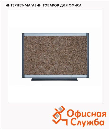 фото: Доска пробковая Bi-Office PVI031101 90х120см коричневая, алюминиевая рама