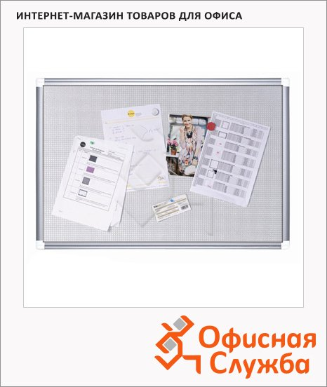 Доска информационная Bi-Office CA0312830 60х90см, белая, пробковая/ магнитная, алюминиевая рама