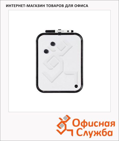 Доска магнитная маркерная Bi-Office CLK010302 28х35.5см, лаковая, белая, черная рама